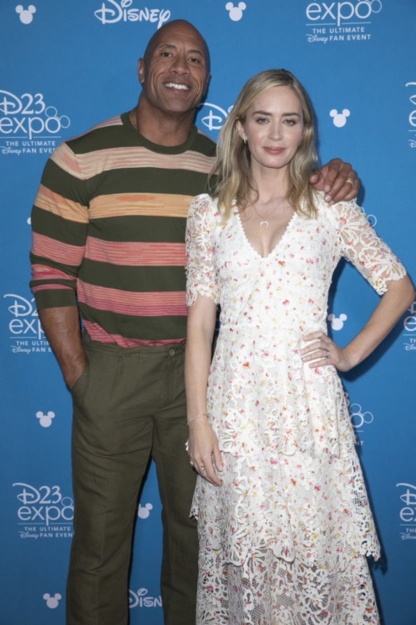 The Rock and Emily Blunt