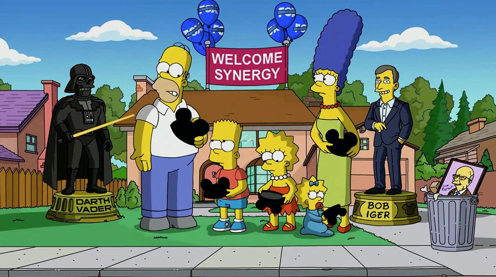 The Simpsons meet Disney
