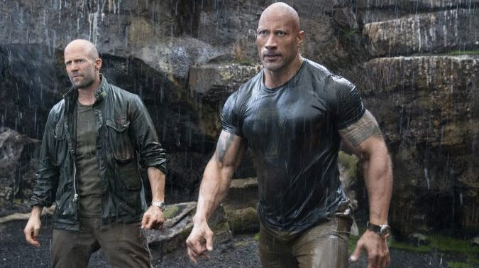 Jason Statham and Dwayne Johnson