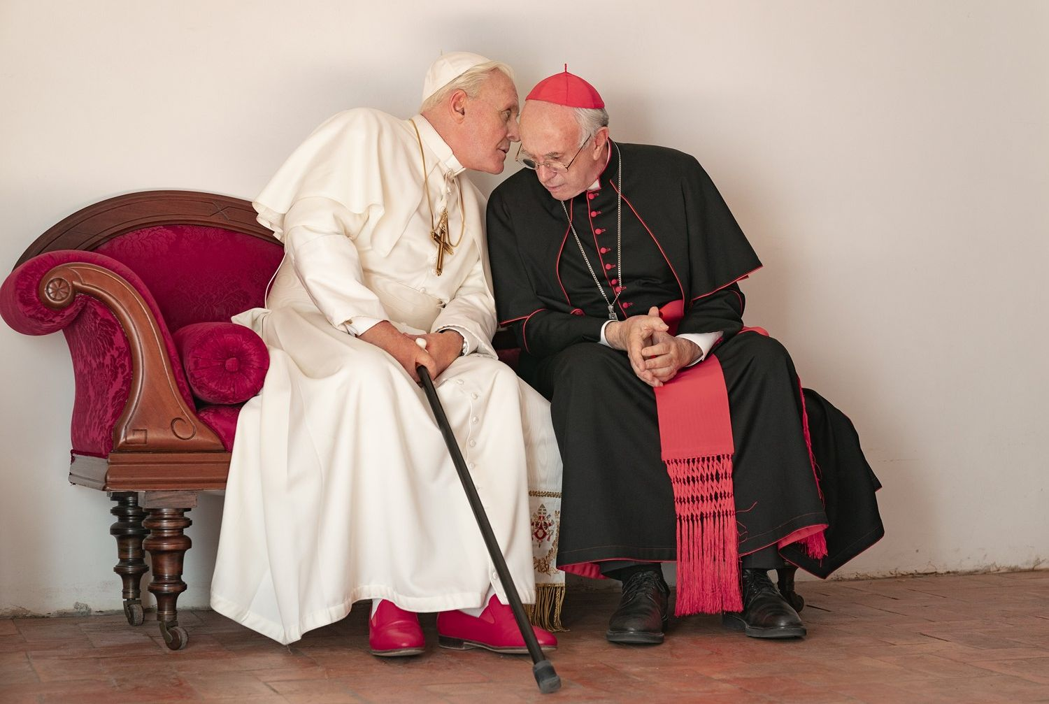 Anthony Hopkins and Jonathan Pryce, 'The Two Popes'