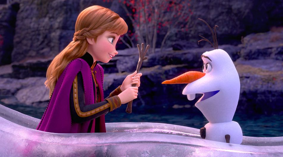 Anna & Olaf (voiced by Kristen Bell and Josh Gad)