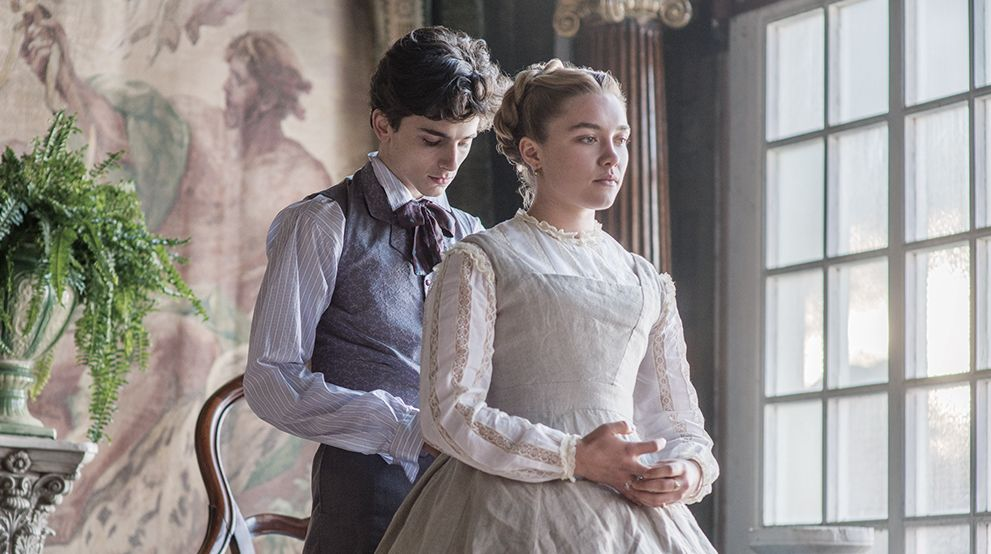 Timothee Chalamet and Florence Pugh