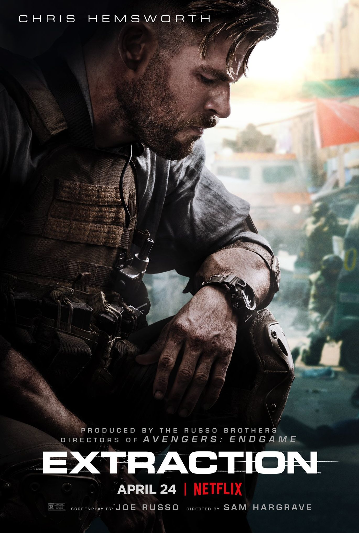 'Extraction' poster - Chris Hemsworth (Netflix)
