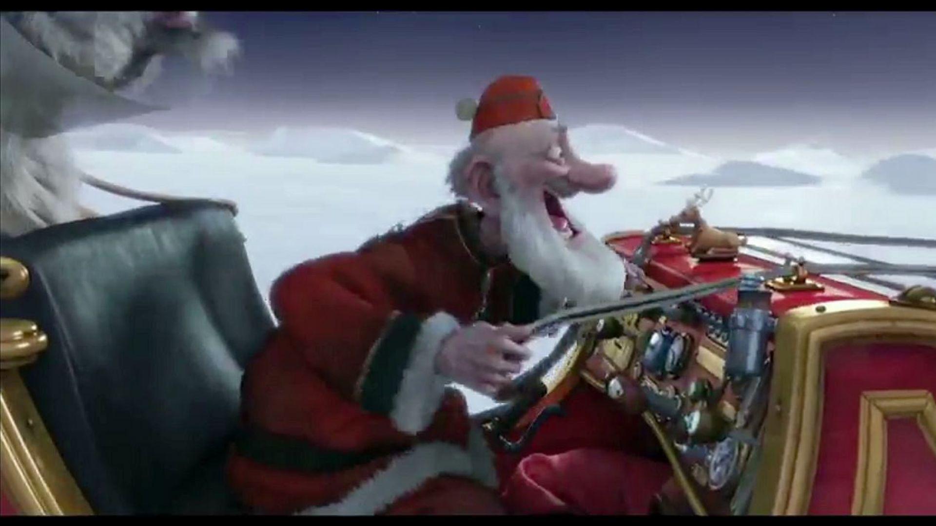 Riding Santa S Sleigh Through The Air In Arthur Christmas Cultjer