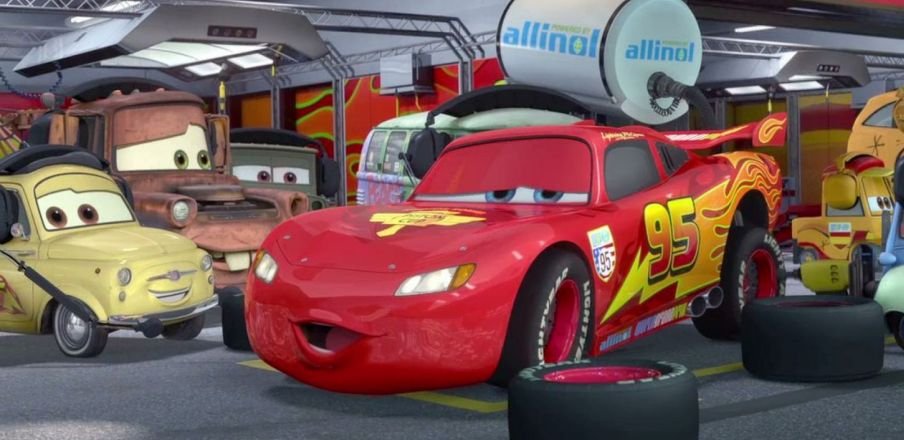 Guido says getta back in the race! Cars 2