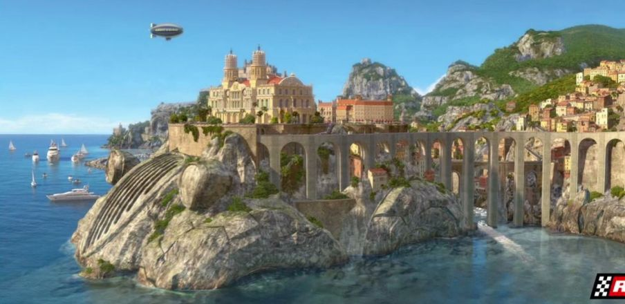 A look at Porto Corsa, Italy in Cars 2
