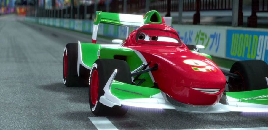 Lightning McQueen is speed. Francesco is triple speed. Cars 2