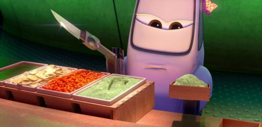 Pistachio ice cream? No it's wasabi Mater! Cars 2