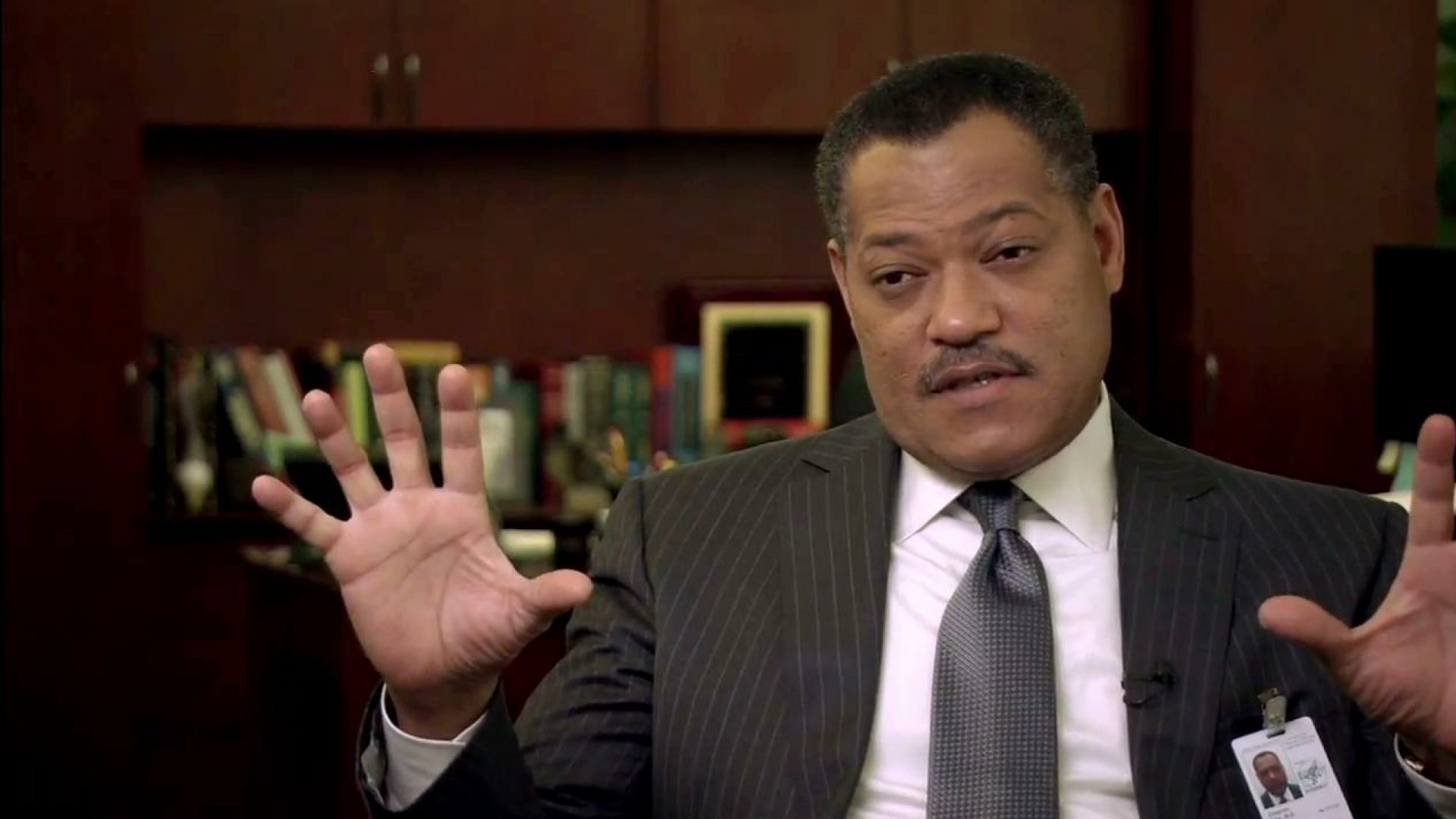 Laurence Fishburne on his character CDC deputy director Ellis Cheever in Contagion