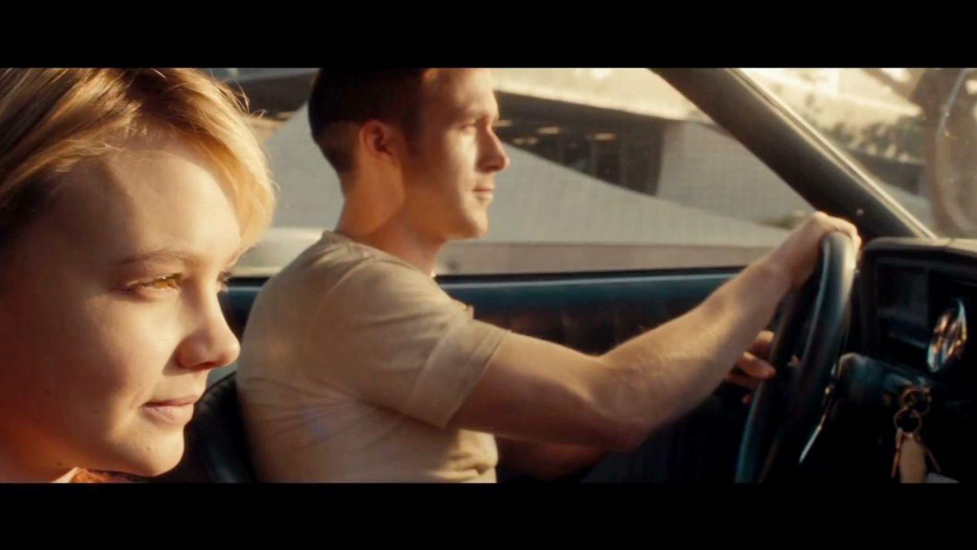 Ryan Gosling drives Irene and Benicio home in Drive