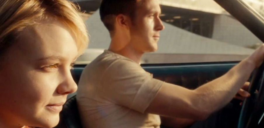 Ryan Gosling drives Irene and Benicio home in Drive