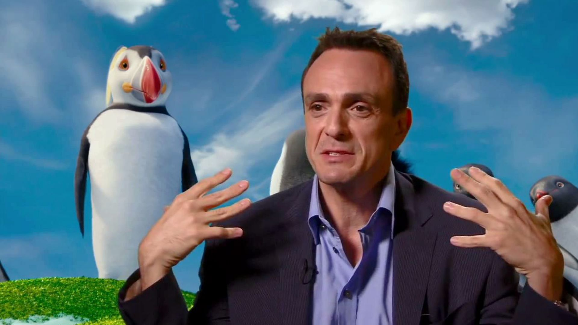Hank Azaria on creating self-help guru Sven in Happy Feet 2