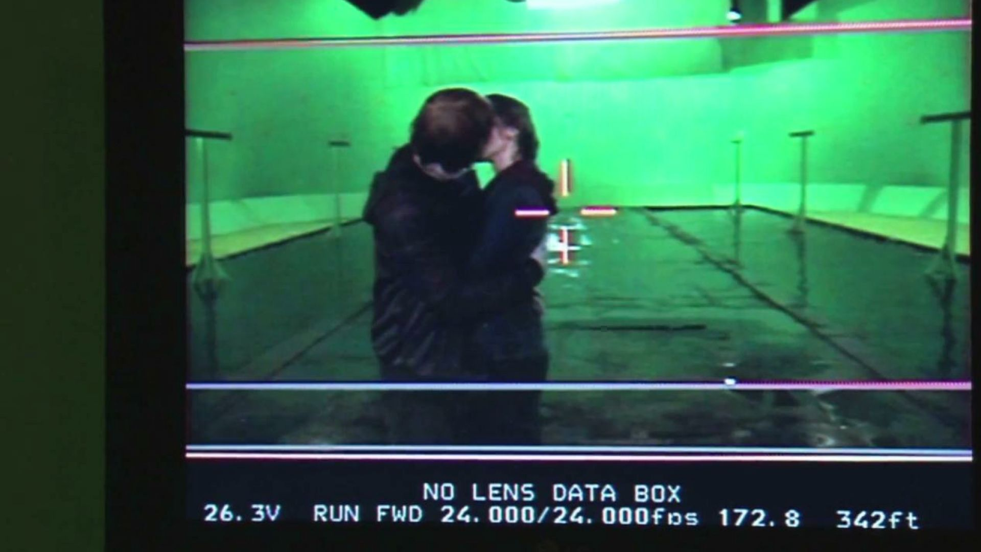 Behind the scenes: Emma Watson and Rupert Grint kiss in Harry Potter