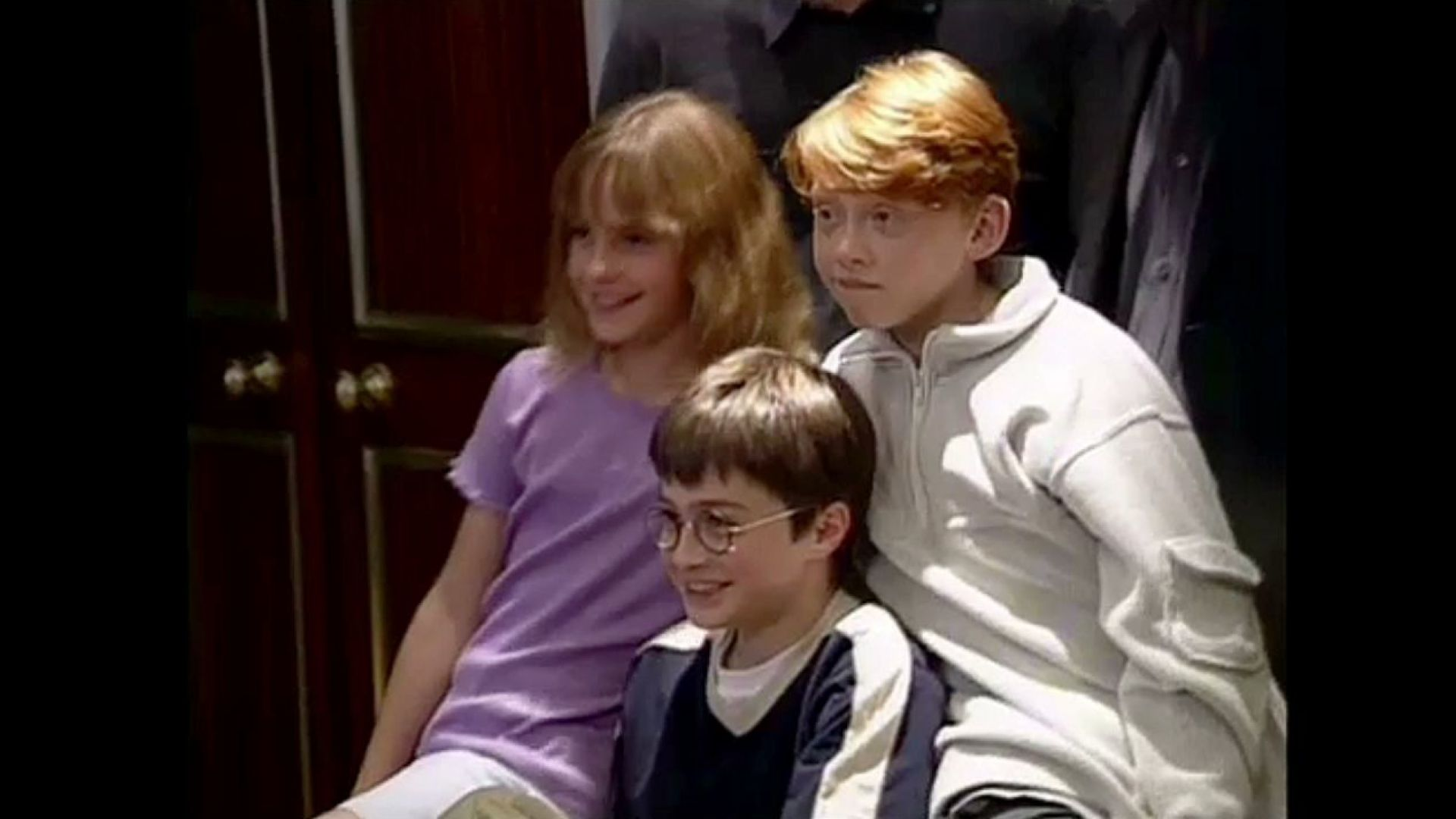 The first Harry Potter press conference where Daniel, Rupert and Emma are introduced