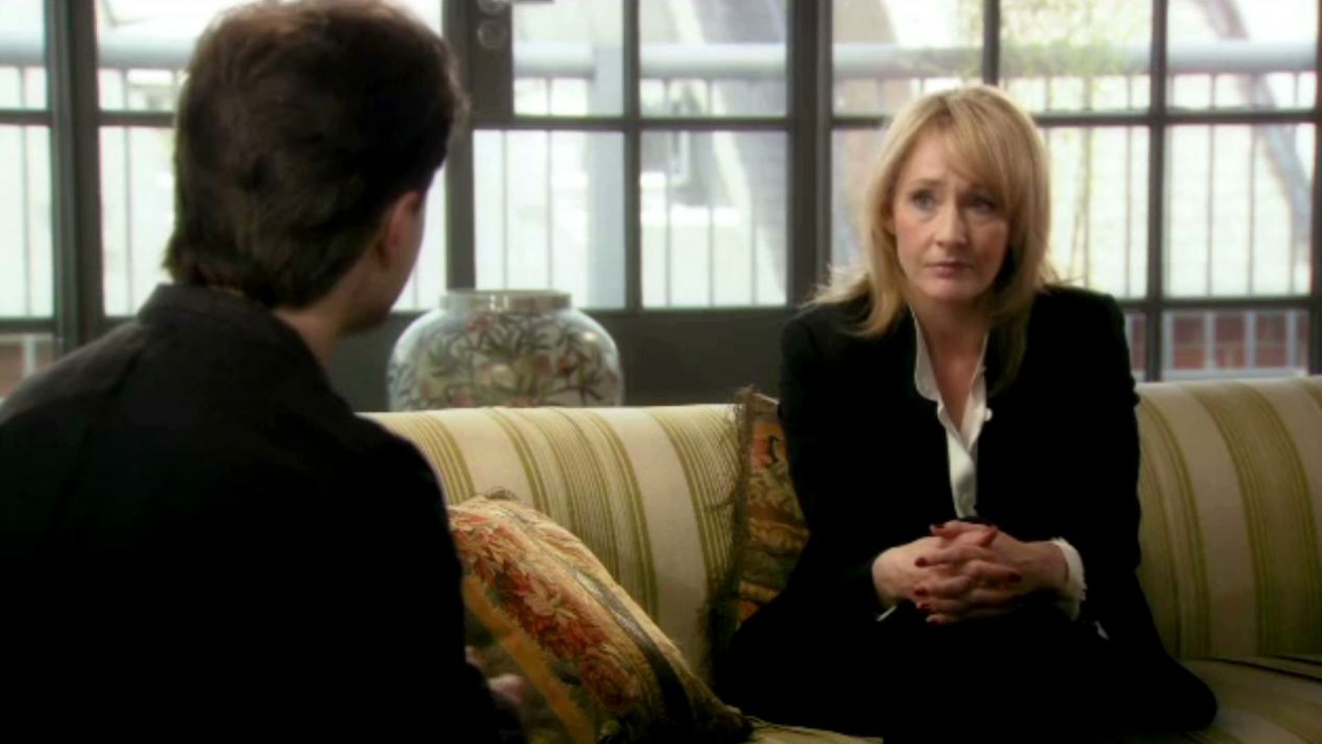 Daniel Radcliffe and J.K. Rowling talk about the Potter fan base