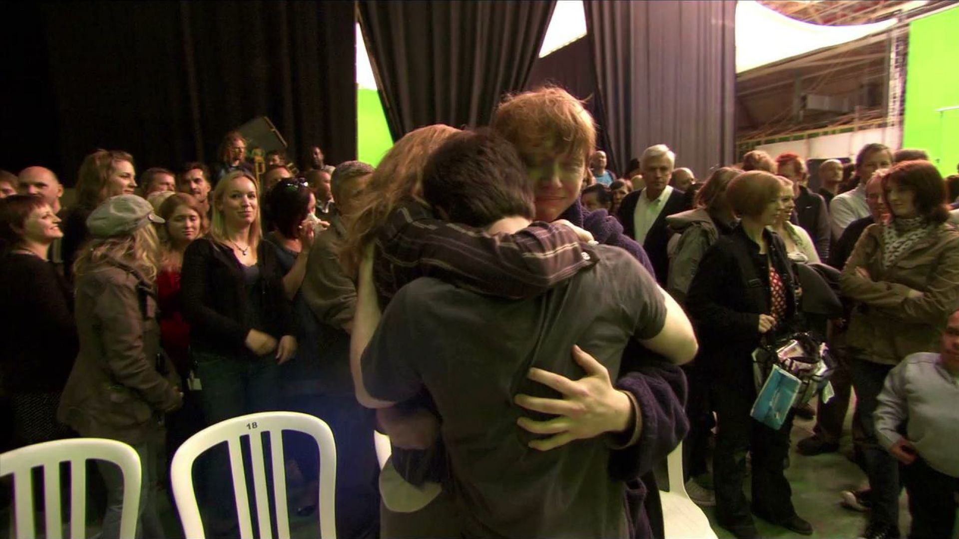 Last day on set. The Harry Potter cast and crew say goodbye