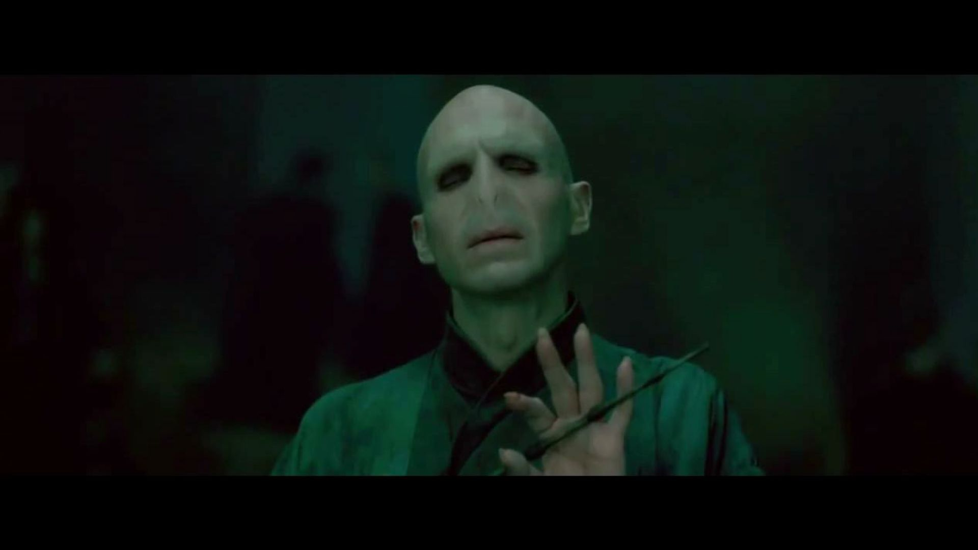 Harry Potter and Lord Voldemort, the final confrontation
