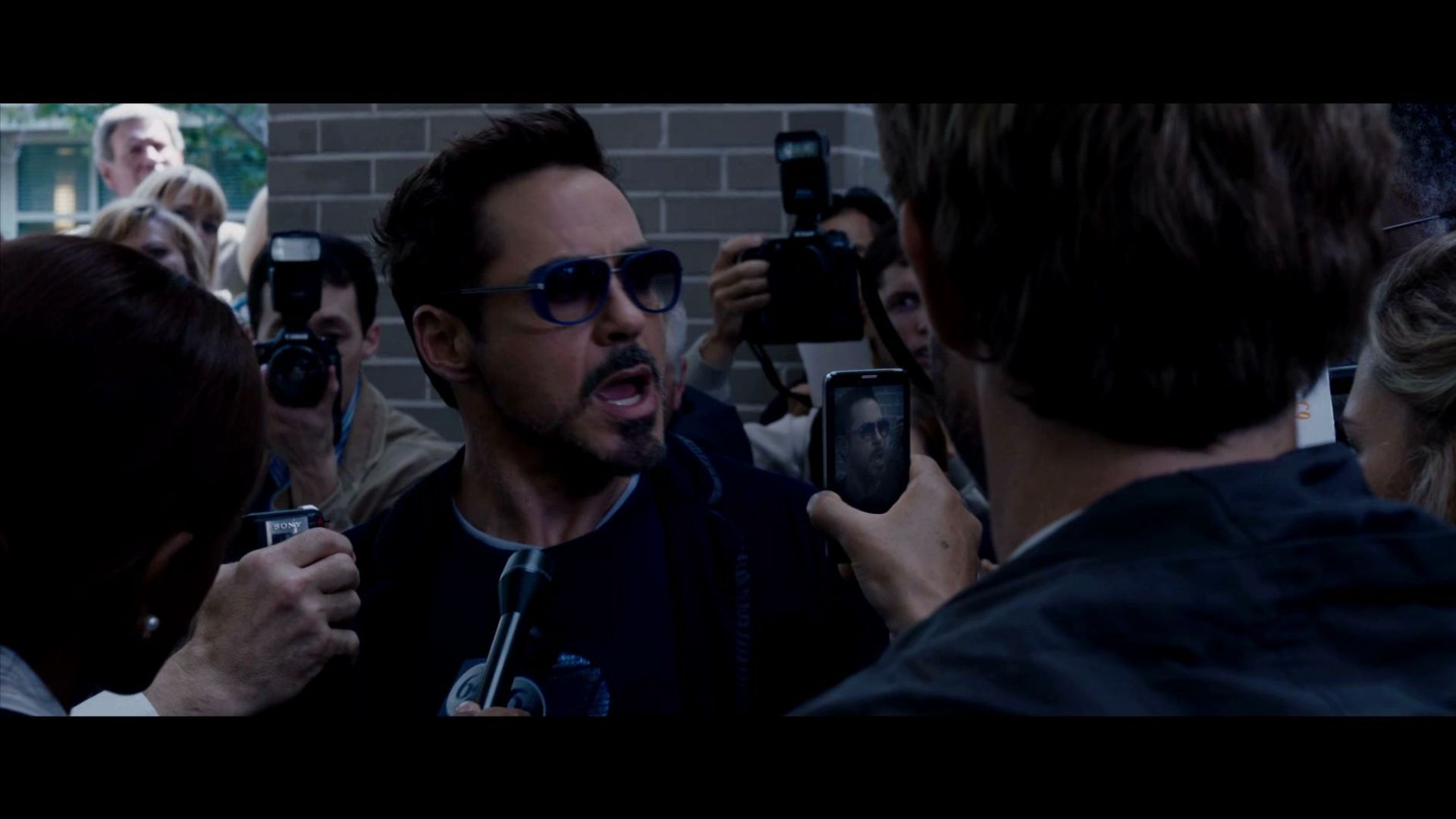 Tony Stark gives out his home address in Iron Man 3