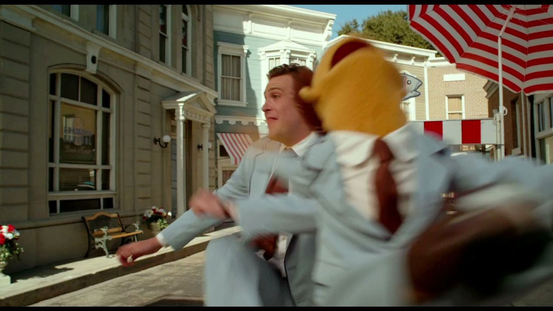 The Muppets sing Life's A Happy Song and Jason Segel kicks Walter off screen