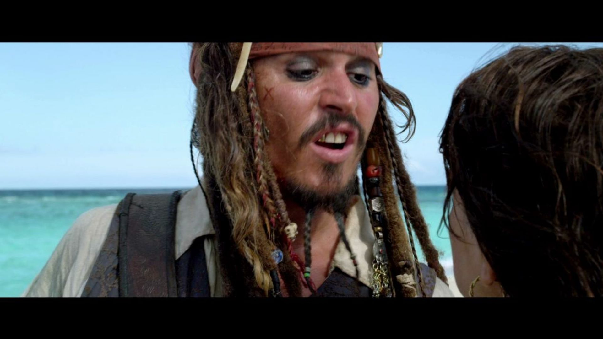 Angelica and Jack Sparrow in Pirates 4