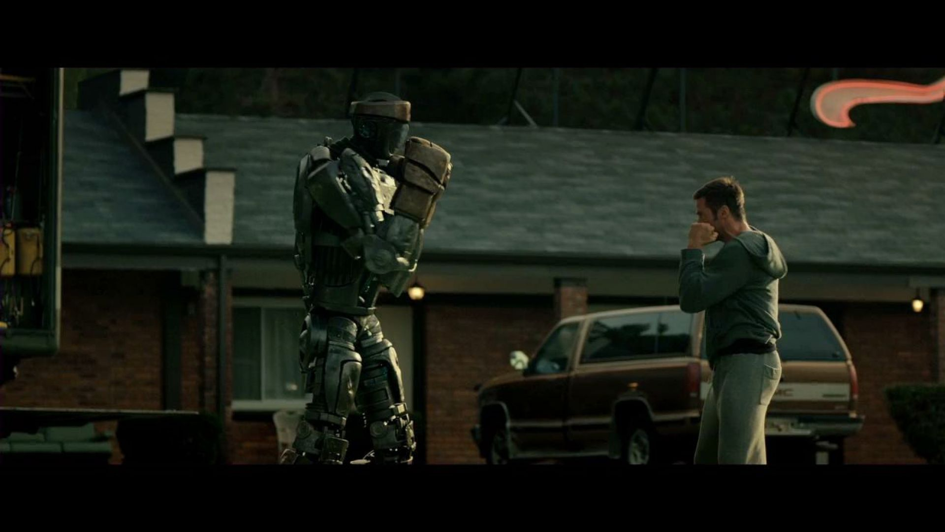 And now you're not out of breath. I like it. Real Steel