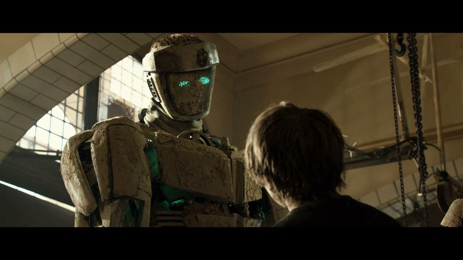 He's a sparring bot. He'll get destroyed in the ring. Real Steel
