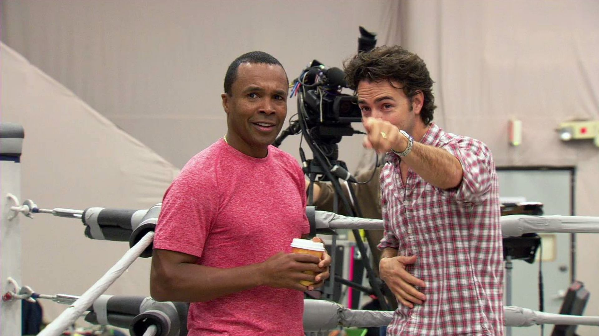 Hugh Jackman and Sugar Ray Leonard talk about working together on Real Steel