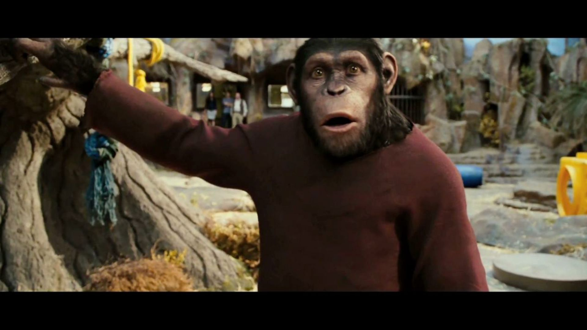 Will has to say goodbye to Caesar. Rise of the Planet of the Apes