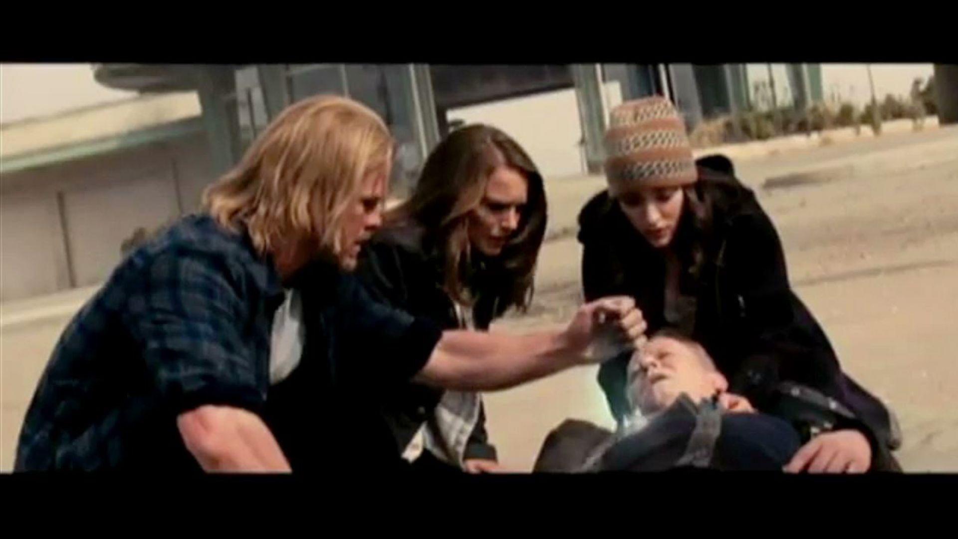 Thor saves Erik using a healing stone
