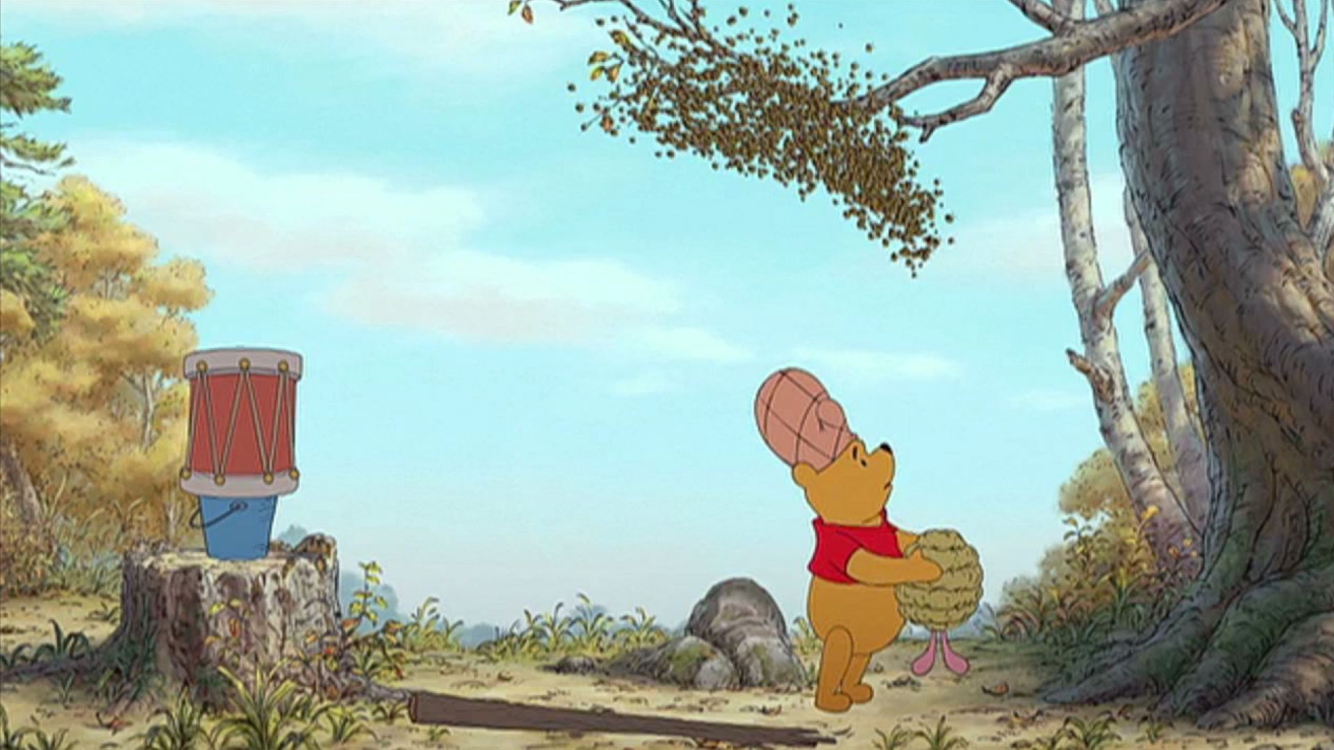 Winnie the Pooh impersonates Harry Potter