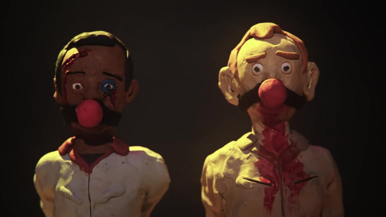 Ghostbusters meets Quentin Tarantino's in this claymation ma