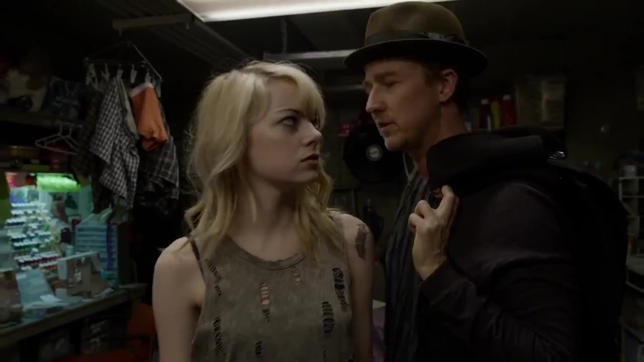Dude, seriously? Emma Stone as Sam the assistant in Birdman