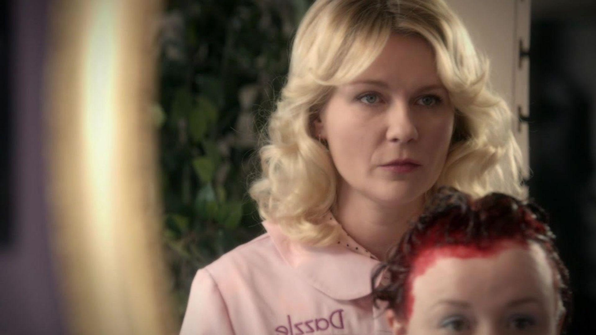 Kirsten Dunst featured in Fargo Season 2 'Curl Up N' Dye' te