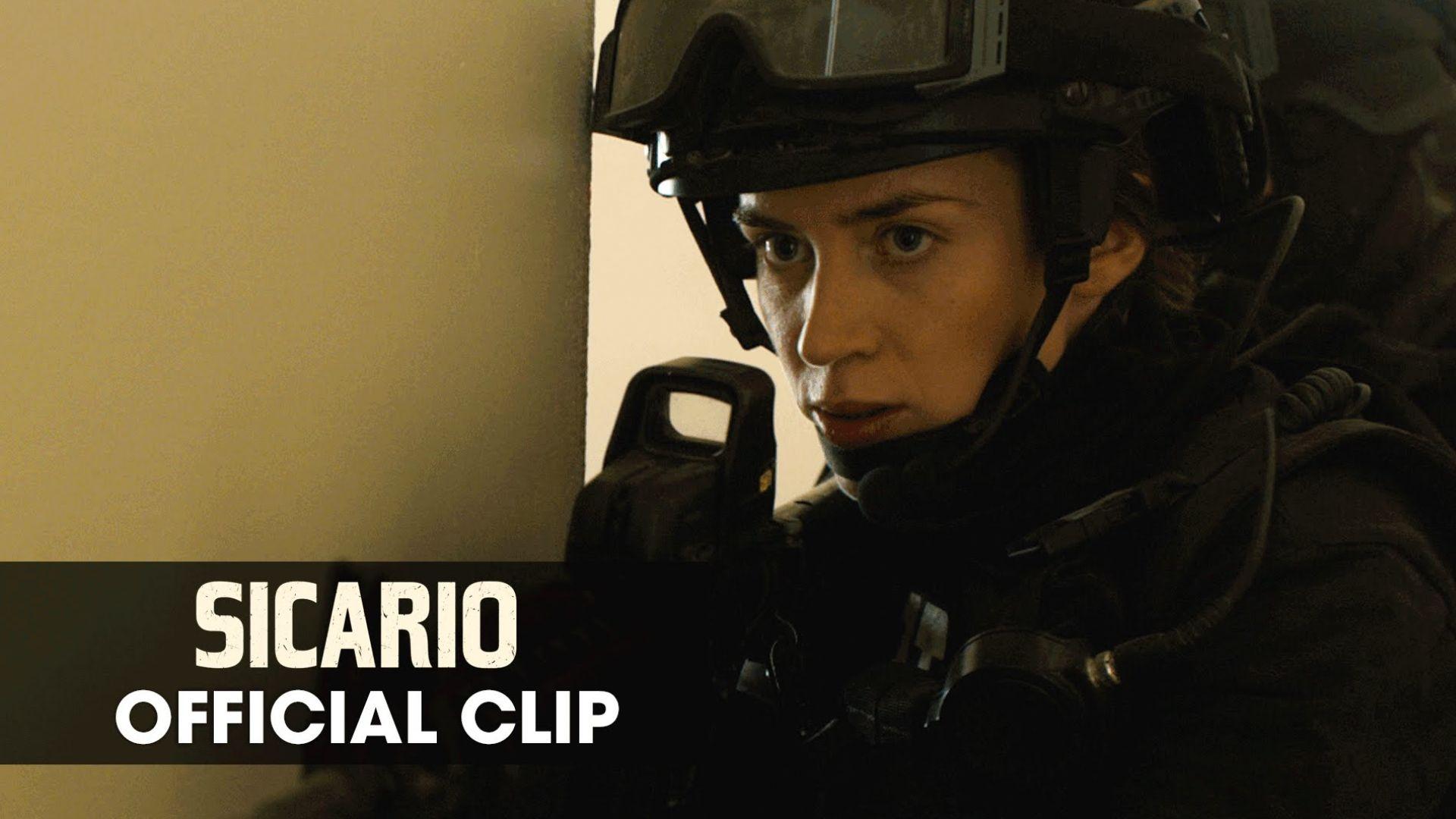 Emily Blunt Raids House in new 'Sicario' Clip