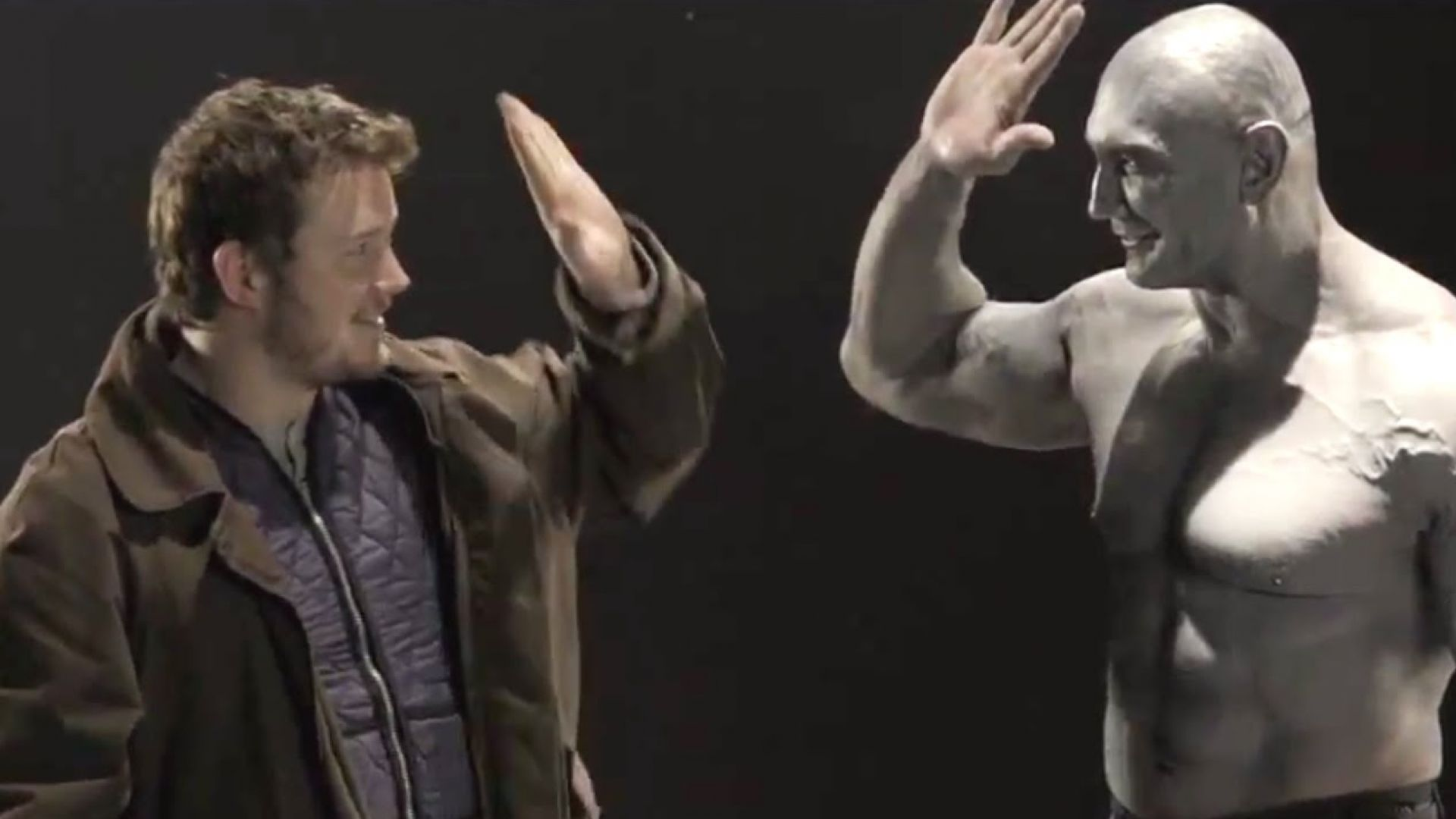 Guardians Of The Galaxy Screen Test Clip Chris Pratt And Dav