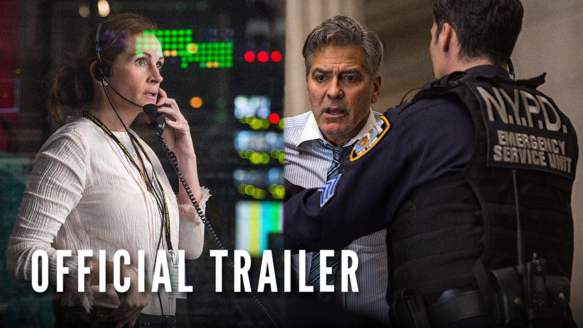Money Monster Official Trailer with George Clooney and Julia