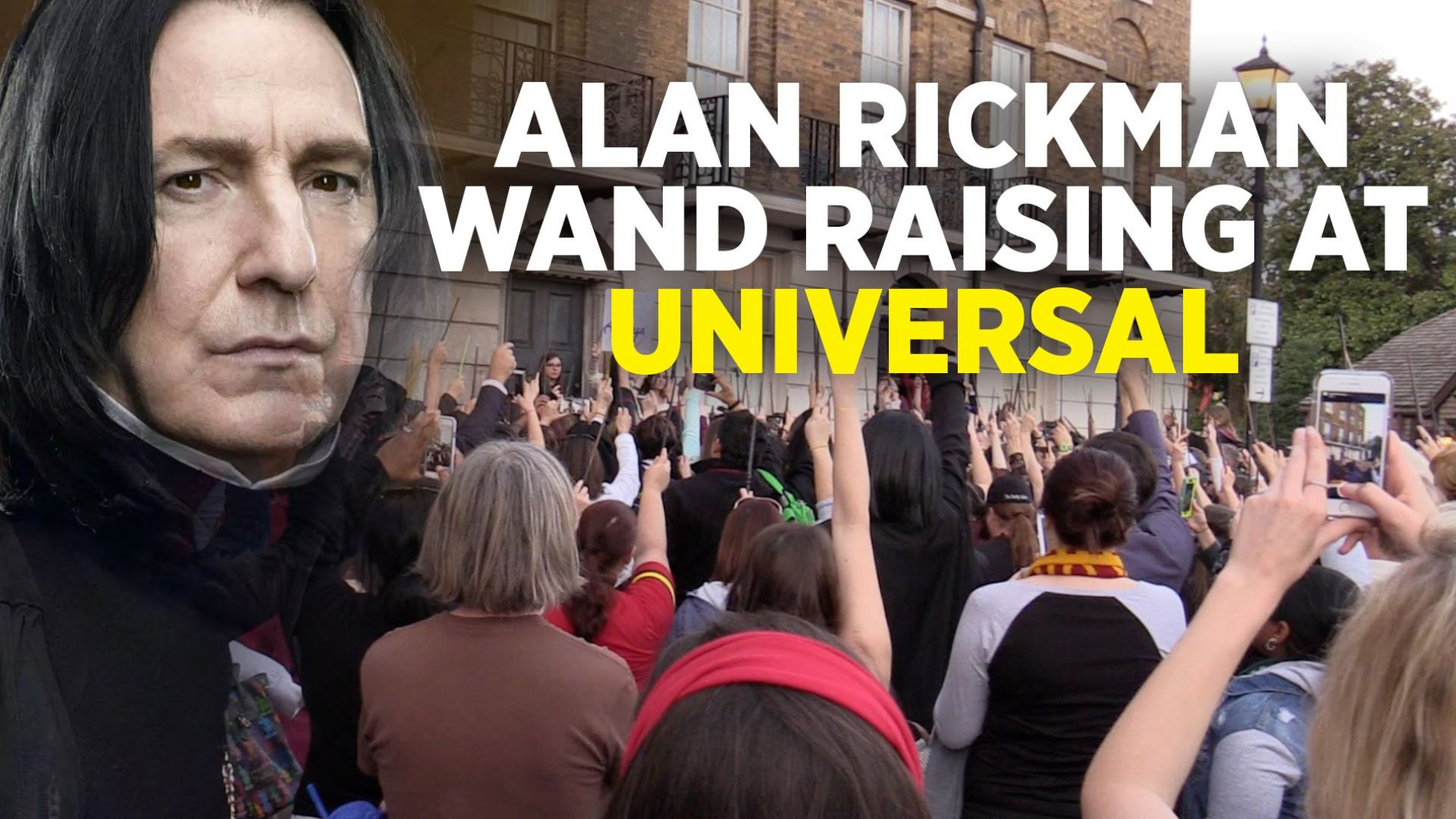 "Wand Raising For Alan Rickman At ""a Celebration Of Harry Pot"