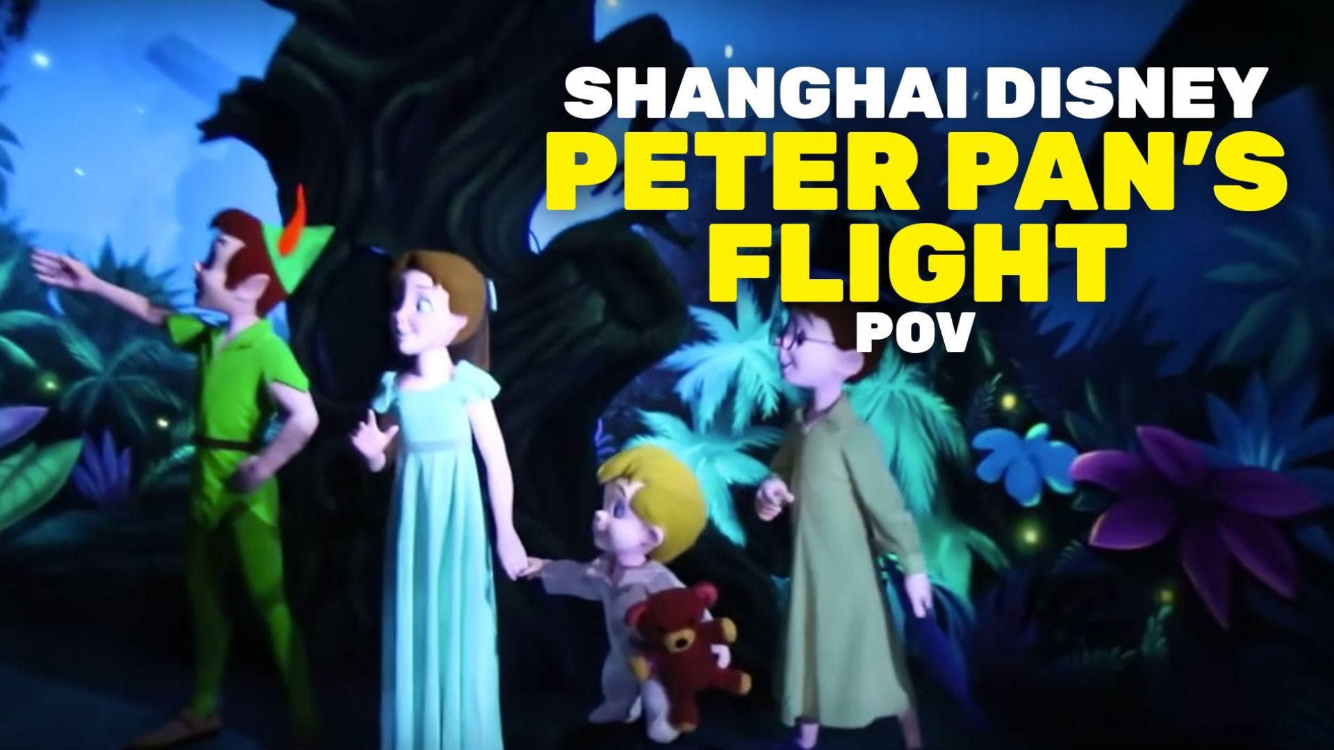 Peter Pan's Flight Ride At Shanghai Disneyland