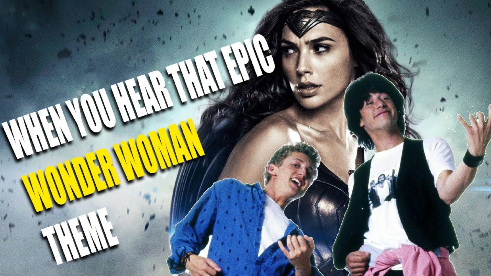 When You Hear That Epic Wonder Woman Guitar Music