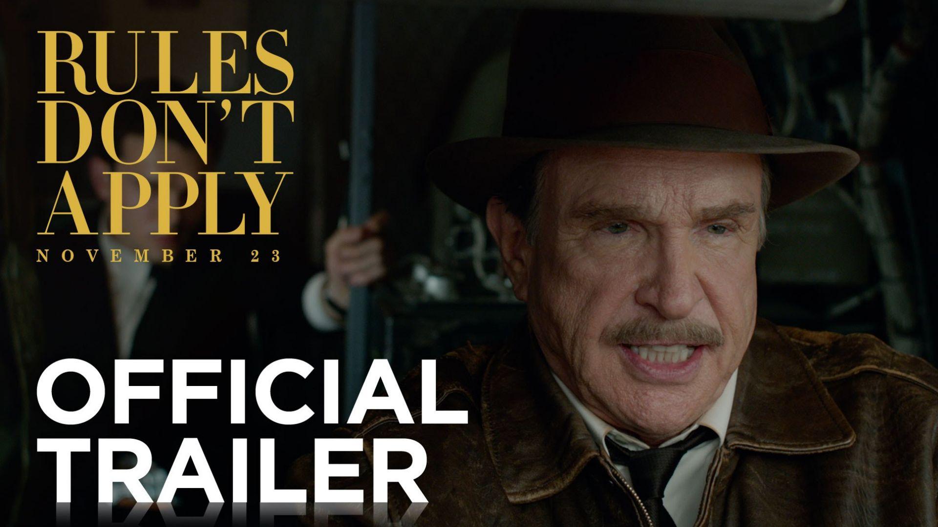 Warren Beatty is Howard Hughes in 'Rules Don't Apply'. Als
