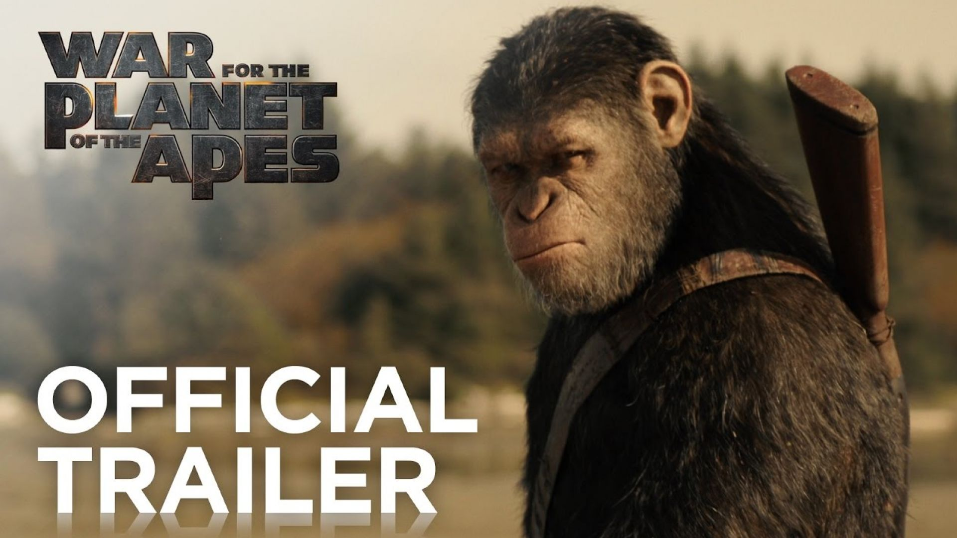 'War For The Planet of The Apes' Official Trailer. In theate