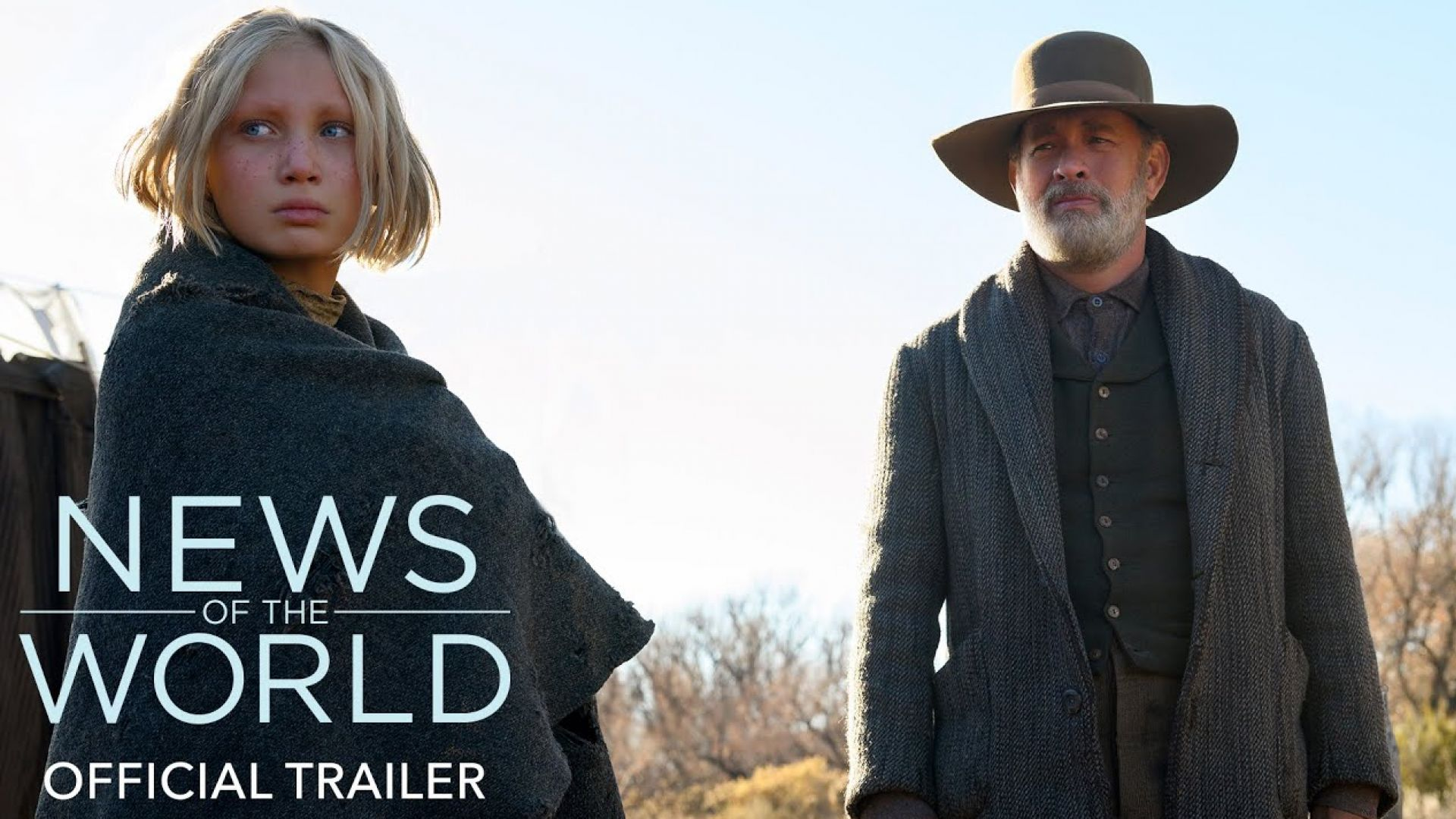 'News of the World' trailer by Paul Greengrass, with Tom Han