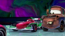 Lightning McQueen's girlfriend is a huge Francesco fan, Cars 2