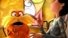 Who invited the giant furry peanut? The Lorax