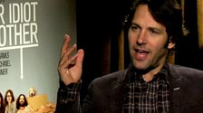 Paul Rudd on kissing his dog in Our Idiot Brother